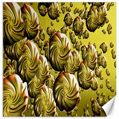 Melting Gold Drops Brighten Version Abstract Pattern Revised Edition Canvas 16  X 16