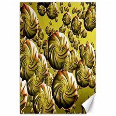 Melting Gold Drops Brighten Version Abstract Pattern Revised Edition Canvas 20  x 30