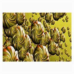 Melting Gold Drops Brighten Version Abstract Pattern Revised Edition Large Glasses Cloth (2-Side)