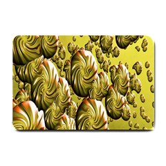 Melting Gold Drops Brighten Version Abstract Pattern Revised Edition Small Doormat