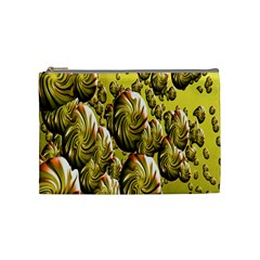 Melting Gold Drops Brighten Version Abstract Pattern Revised Edition Cosmetic Bag (medium)