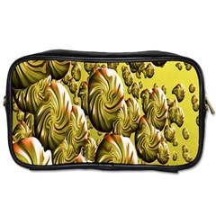 Melting Gold Drops Brighten Version Abstract Pattern Revised Edition Toiletries Bags