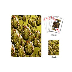 Melting Gold Drops Brighten Version Abstract Pattern Revised Edition Playing Cards (Mini)