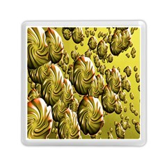 Melting Gold Drops Brighten Version Abstract Pattern Revised Edition Memory Card Reader (square)