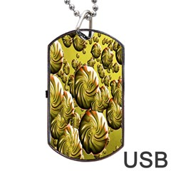 Melting Gold Drops Brighten Version Abstract Pattern Revised Edition Dog Tag Usb Flash (one Side)