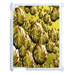 Melting Gold Drops Brighten Version Abstract Pattern Revised Edition Apple Ipad 2 Case (white)