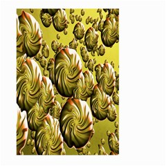 Melting Gold Drops Brighten Version Abstract Pattern Revised Edition Large Garden Flag (Two Sides)