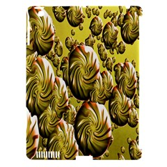 Melting Gold Drops Brighten Version Abstract Pattern Revised Edition Apple iPad 3/4 Hardshell Case (Compatible with Smart Cover)