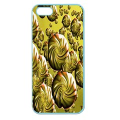 Melting Gold Drops Brighten Version Abstract Pattern Revised Edition Apple Seamless iPhone 5 Case (Color)
