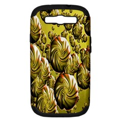 Melting Gold Drops Brighten Version Abstract Pattern Revised Edition Samsung Galaxy S Iii Hardshell Case (pc+silicone)