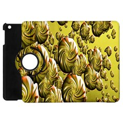 Melting Gold Drops Brighten Version Abstract Pattern Revised Edition Apple iPad Mini Flip 360 Case