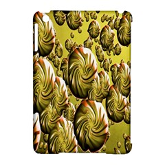 Melting Gold Drops Brighten Version Abstract Pattern Revised Edition Apple iPad Mini Hardshell Case (Compatible with Smart Cover)