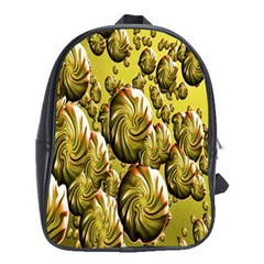 Melting Gold Drops Brighten Version Abstract Pattern Revised Edition School Bags (XL)