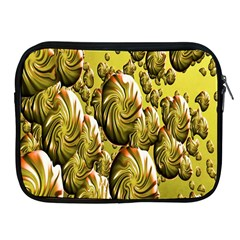 Melting Gold Drops Brighten Version Abstract Pattern Revised Edition Apple iPad 2/3/4 Zipper Cases