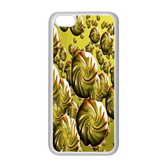Melting Gold Drops Brighten Version Abstract Pattern Revised Edition Apple iPhone 5C Seamless Case (White)