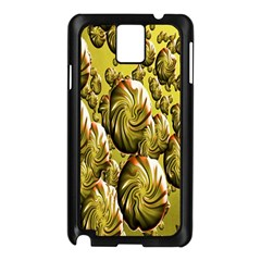 Melting Gold Drops Brighten Version Abstract Pattern Revised Edition Samsung Galaxy Note 3 N9005 Case (black)