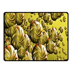 Melting Gold Drops Brighten Version Abstract Pattern Revised Edition Double Sided Fleece Blanket (Small)