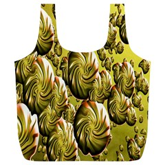 Melting Gold Drops Brighten Version Abstract Pattern Revised Edition Full Print Recycle Bags (L)