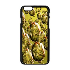 Melting Gold Drops Brighten Version Abstract Pattern Revised Edition Apple iPhone 6/6S Black Enamel Case