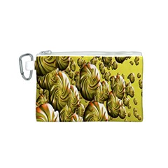Melting Gold Drops Brighten Version Abstract Pattern Revised Edition Canvas Cosmetic Bag (s)