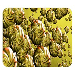 Melting Gold Drops Brighten Version Abstract Pattern Revised Edition Double Sided Flano Blanket (Small)