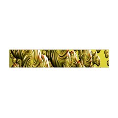 Melting Gold Drops Brighten Version Abstract Pattern Revised Edition Flano Scarf (mini)