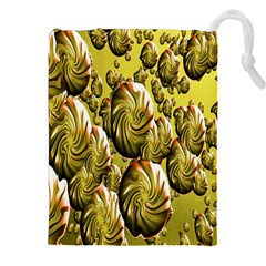 Melting Gold Drops Brighten Version Abstract Pattern Revised Edition Drawstring Pouches (xxl)