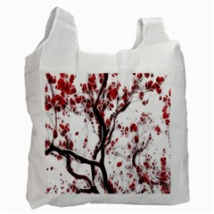 Tree Art Artistic Abstract Background Recycle Bag (two Side)