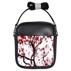 Tree Art Artistic Abstract Background Girls Sling Bags