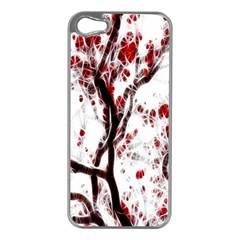 Tree Art Artistic Abstract Background Apple iPhone 5 Case (Silver)