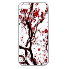 Tree Art Artistic Abstract Background Apple Seamless iPhone 5 Case (Clear)