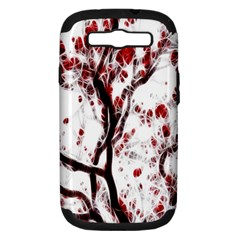 Tree Art Artistic Abstract Background Samsung Galaxy S III Hardshell Case (PC+Silicone)