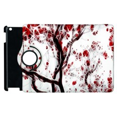 Tree Art Artistic Abstract Background Apple Ipad 2 Flip 360 Case