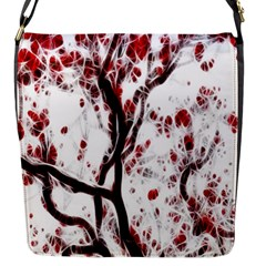 Tree Art Artistic Abstract Background Flap Messenger Bag (S)