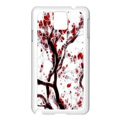 Tree Art Artistic Abstract Background Samsung Galaxy Note 3 N9005 Case (White)
