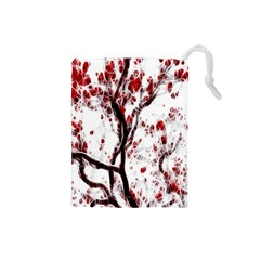 Tree Art Artistic Abstract Background Drawstring Pouches (Small)