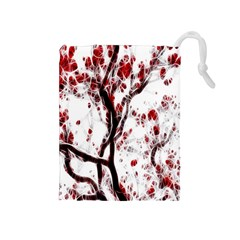 Tree Art Artistic Abstract Background Drawstring Pouches (medium)