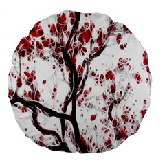 Tree Art Artistic Abstract Background Large 18  Premium Flano Round Cushions