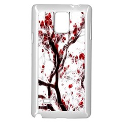 Tree Art Artistic Abstract Background Samsung Galaxy Note 4 Case (white)