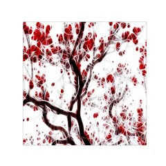 Tree Art Artistic Abstract Background Small Satin Scarf (Square)
