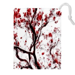 Tree Art Artistic Abstract Background Drawstring Pouches (xxl)