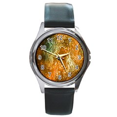 Light Effect Abstract Background Wallpaper Round Metal Watch