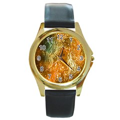 Light Effect Abstract Background Wallpaper Round Gold Metal Watch