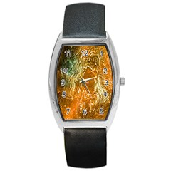 Light Effect Abstract Background Wallpaper Barrel Style Metal Watch
