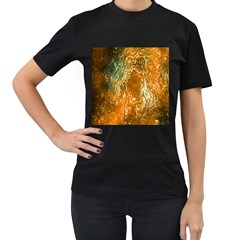 Light Effect Abstract Background Wallpaper Women s T Shirt (black) (two Sided)