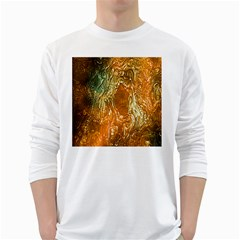 Light Effect Abstract Background Wallpaper White Long Sleeve T Shirts
