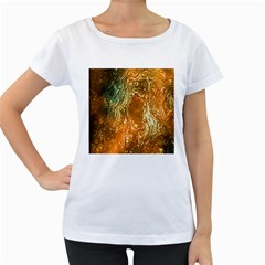 Light Effect Abstract Background Wallpaper Women s Loose-Fit T-Shirt (White)