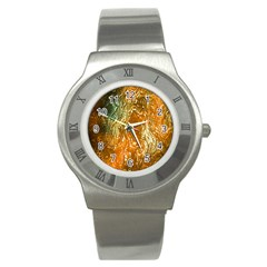 Light Effect Abstract Background Wallpaper Stainless Steel Watch