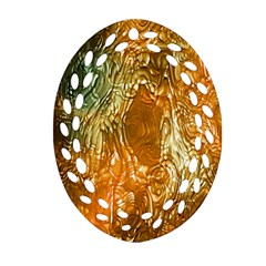 Light Effect Abstract Background Wallpaper Oval Filigree Ornament (Two Sides)