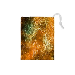 Light Effect Abstract Background Wallpaper Drawstring Pouches (Small)